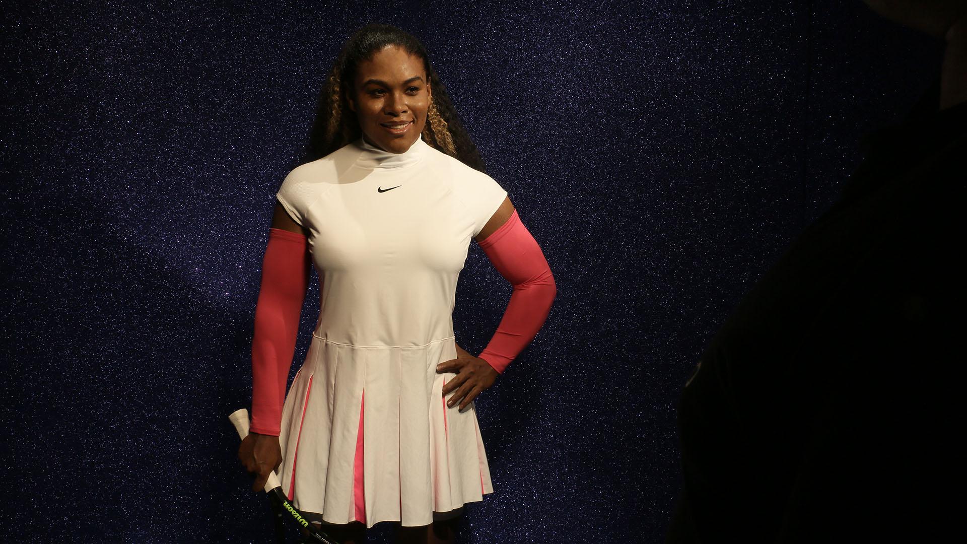Statue del giocatore di tennis umano di alta qualità per Serena Williams