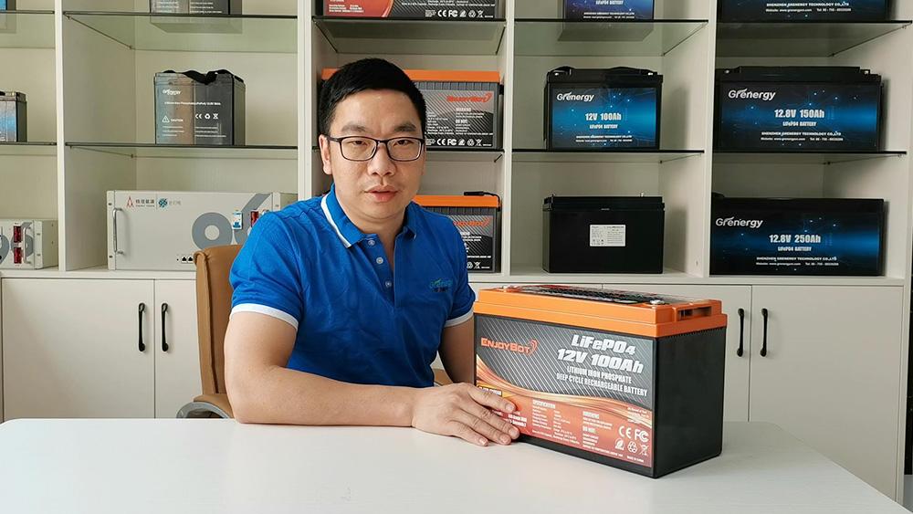 Bateria de alta qualidade GRERNGY LIFPO4 12.8V 100AH por atacado