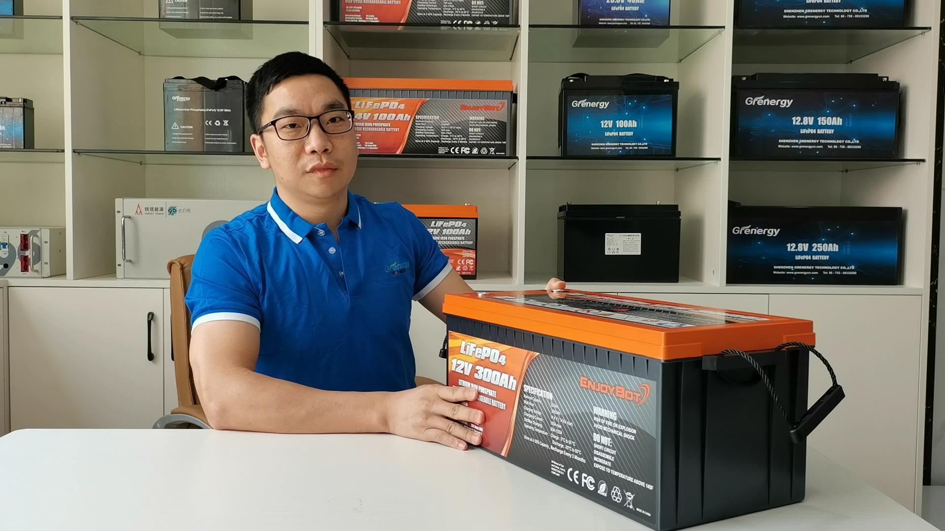 Intro para a bateria de Grenergia Lifepo4 12.8V 300AH 04